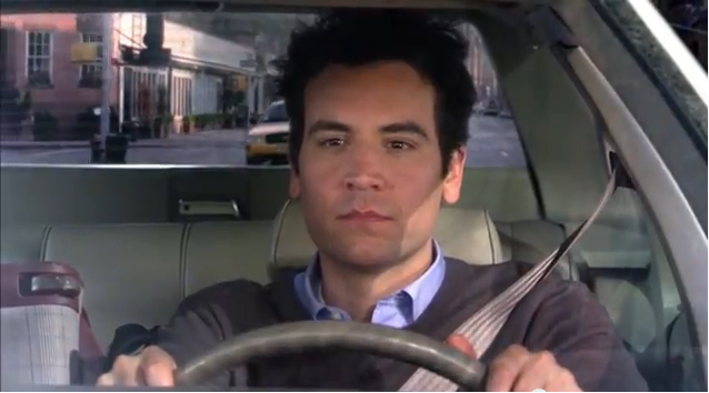 Ted mosby en voiture